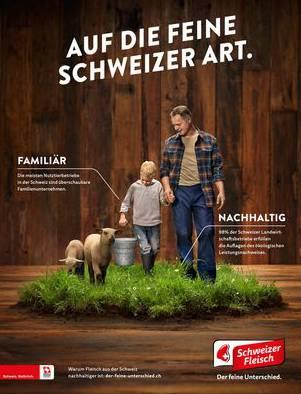 Proviande macht mit seiner Werbung auf die Unterschiede von Schweizer und ausländischem Fleisch aufmerksam.