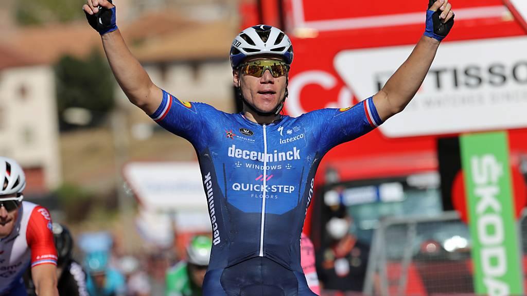 Fabio Jakobsen fuhr wie bereits in Molina de Aragon auch in La Manga del Mar als Erster über die Ziellinie