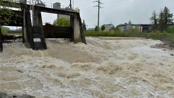 Hochwasser an der Emme am 3. Mai dieses Jahres.