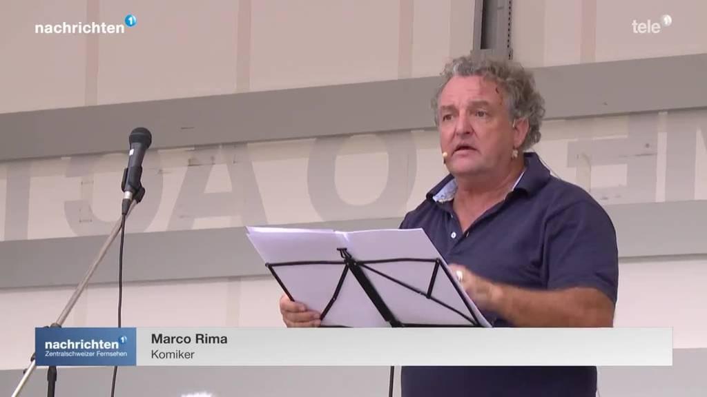 Marco Rima unter Corona-Skeptikern in Zürich