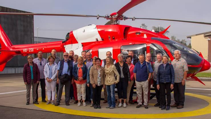 Vor dem Helikopter H145