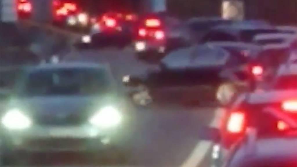 Keine Geduld - Sicherheitslinie überfahren