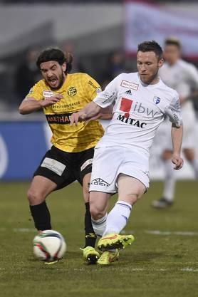 Arben Buqai (links, Schaffhausen) gegen Alain Schultz (rechts, Wohlen).