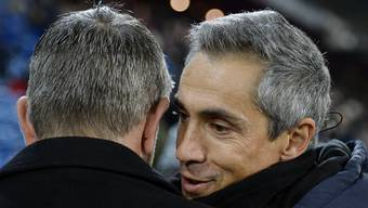 Basel-Trainer Urs Fischer (links) und Fiorentina-Coach Paulo Sousa sind sich einig: Der FCB hat Stärke bewiesen, indem er das 0:2 noch aufgeholt hat.