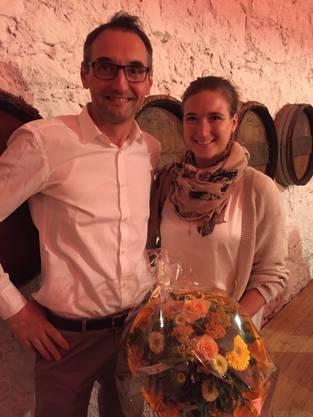 Anna Wartmann, Präsidentin der Jungfreisinnigen Aargau zusammen mit Luigi Scura, Präsident der FDP Rupperswil