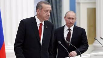 Der türkische Premier Recep Tayyip Erdogan (l) und Russlands Präsident Wladimir Putin.
