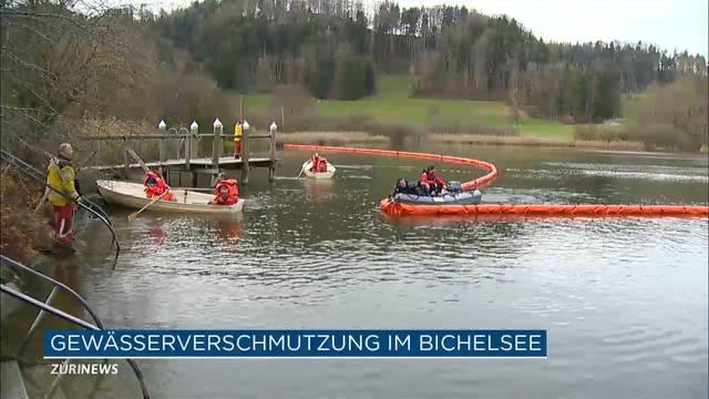 Öl-Unfall im Bichelsee