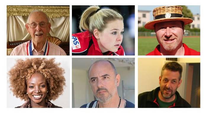 Das sind die Kandidaten zum Limmattaler des Jahres 2015: Charles Eugster, Alina Pätz, Thomas Mattle, Yvonne Apiyo Brändle Amolo, Giovanni Annoscia und Fabian Hauser.