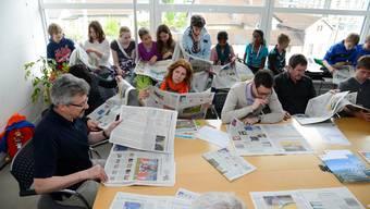 Biberister Primarschüler sind zu Besuch auf der Redaktion der Solothurner Zeitung