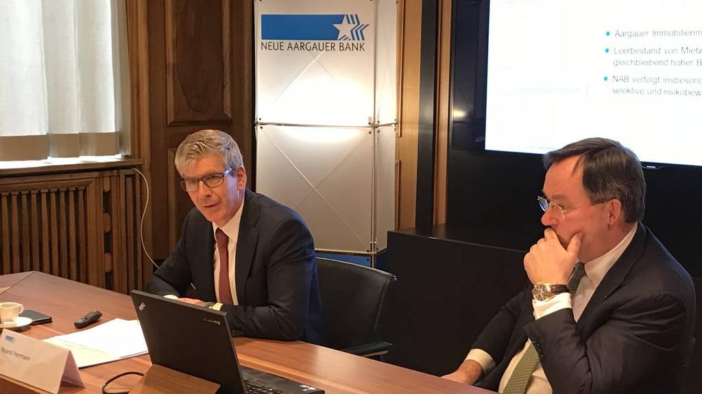 Neue Aargauer Bank ist trotz weniger Gewinn zufrieden mit dem Jahresergebnis