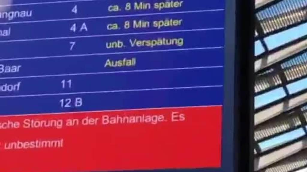 Zweistündiger Streckenunterbruch zwischen Rotkreuz und Luzern