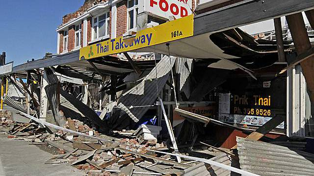 Das Beben war auf der ganzen Insel spürbar, hier die Zersötrung in Christchurch