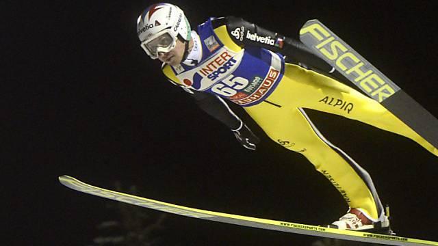 Simon Ammann sprang in der Qualifikation auf 137 m.