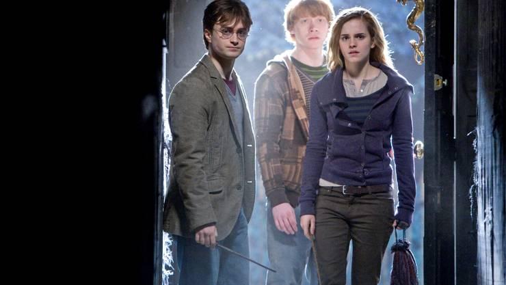 Die Harry-Potter-Serie endet wie eine grosse Oper: Daniel Radcliffe, Rupert Grint und Emma Watson.