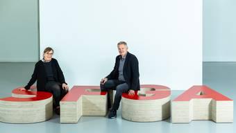 Die Co-Leitung der Schule für Gestaltung Aargau Franziska Hofer (links) und Luigi Garavelli.