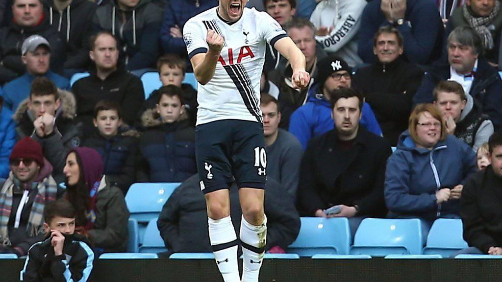 Harry Kane (22) schiesst Tottenham mit seinen zwei Toren gegen Aston Villa zum Sieg