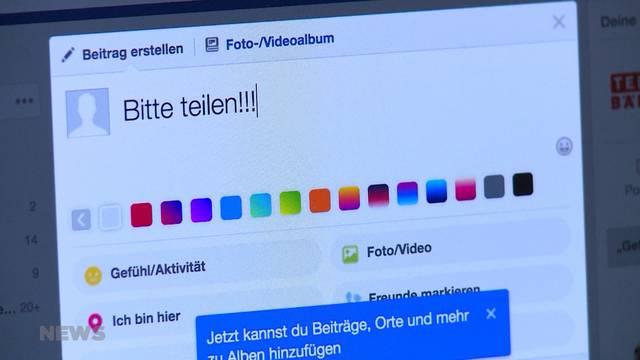 Wegen Facebook für immer vermisst