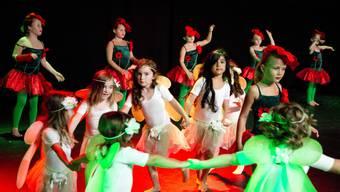 Hier wurde noch getanzt – Kinder an einer Aufführung der von Tina Hauri gegründeten Tanzschule Art of Dance.