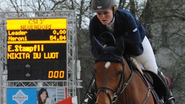 Emilie Stampfli auf ihrem Turnierpferd Nikita du Luot am diesjährigen CSI Neuendorf.