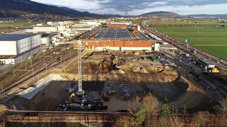 Ein typisches Bild der Flächenentwicklung: Lagerhallen-Neubau im Gäu.