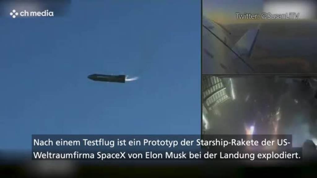 SpaceX-Rakete explodiert bei Landung