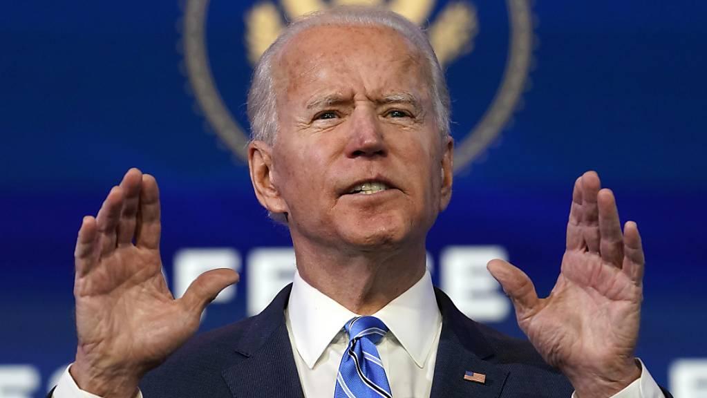 Joe Biden, designierter Präsident der USA, spricht bei einer Veranstaltung.