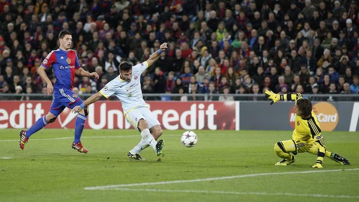 Er war es zwar nicht, der den Ausgleich schoss, doch allein dank seiner überragenden Paraden konnte der FCB einen Punkt retten.