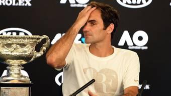 Federer erzählt der Presse, wie seine Nerven ihn im zweiten Satz gegen Cilic im Stich liessen