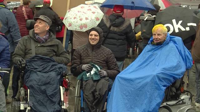 Demo für Gleichstellung von Menschen mit Behinderung
