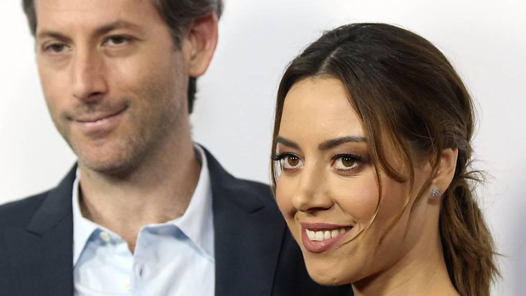 Aubrey Plaza und Jeff Baena kommen zur Premiere von «The Little Hours» auf dem Los Angeles Film Festival 2017.