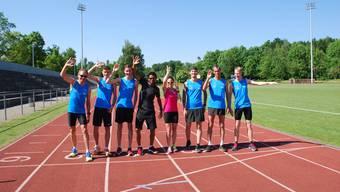 Tadesse Abraham und das Törli Sportsteam im Training.