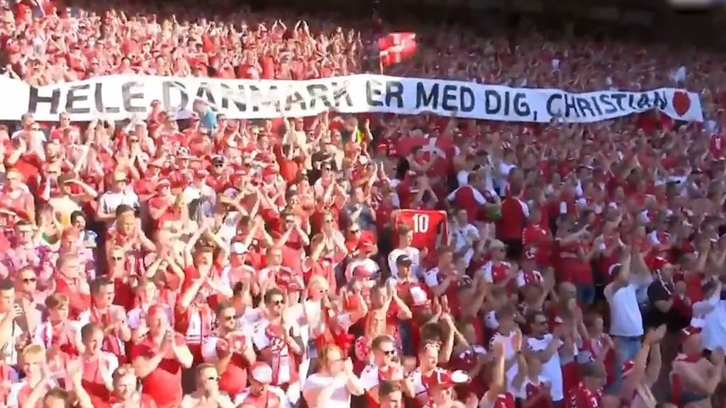 Gänsehautmoment: Spiel unterbrochen und das Stadion applaudiert für Eriksen