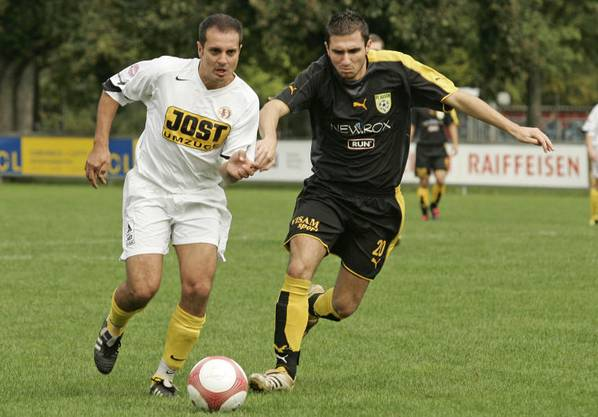Marco Cecere (links) als Spieler beim SC Dornach im Jahr 2007.
