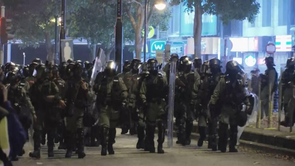 Proteste überschatten Heiligabend in Hongkong
