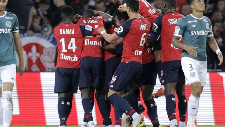Überraschend Zweite der französischen Ligue 1: die Spieler von OSC Lille