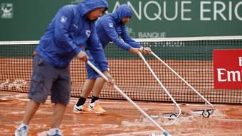 Hohe Niederschlagsmengen verhindern Wawrinkas Tennis-Match in Genf.