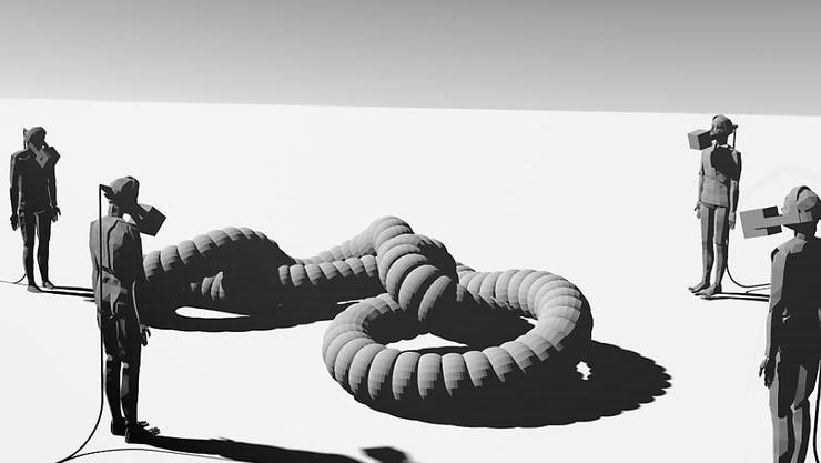 Die kinetische Klangskulptur PiTon des Künstlerduos André und Michel Decosterd ist eines von fünf digitalen Kunstprojekten, die das Migros-Kulturprozent dieses Jahr fördert. (Pressebild)