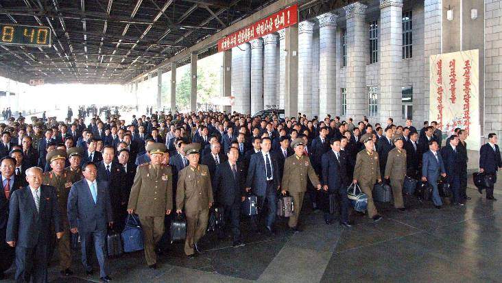 In Pjöngjang versammeln sich die abgeordneten der Kommunistischen Partei.