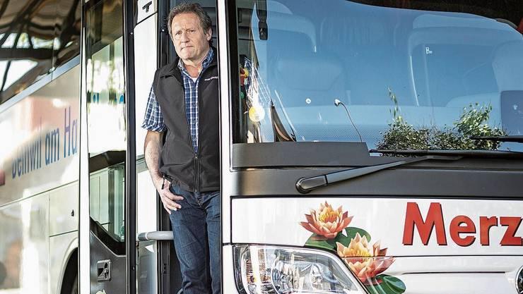 «Im Car wird nicht politisiert», sagt Unternehmer und SVP-Grossrat Christian Merz.
