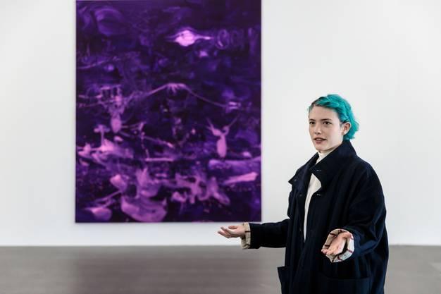 Rebekka Steiger in ihrer ersten grossen Ausstellung im Kunsthaus Grenchen.
