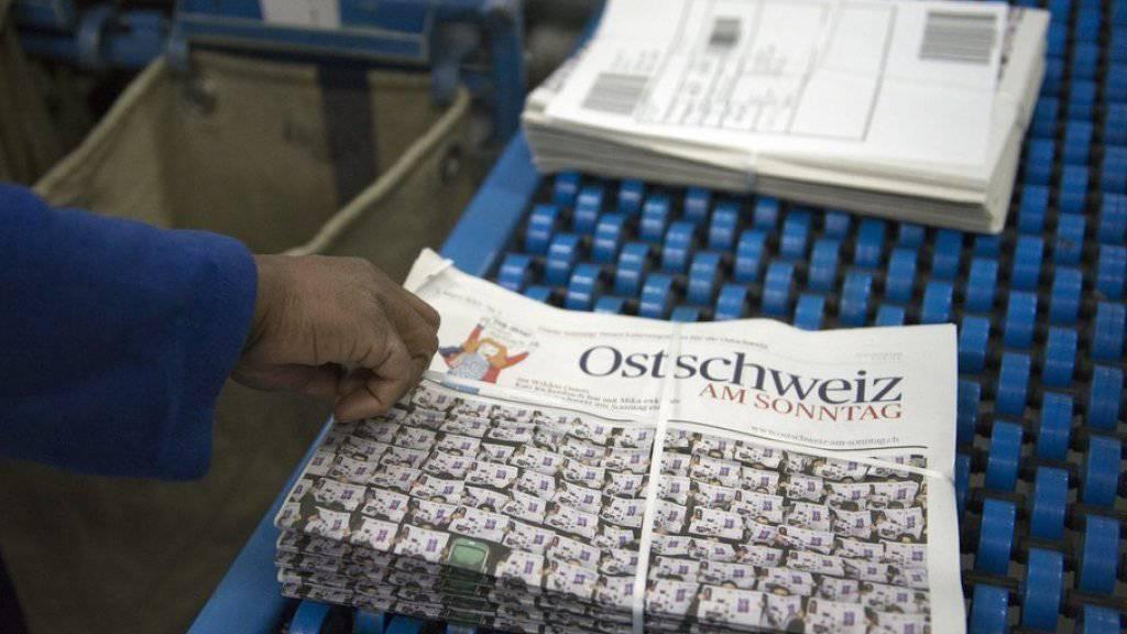 Die Printausgabe der «Ostschweiz am Sonntag» wird eingestellt. 150 bis 200 Zeitungszusteller verlieren möglicherweise ihren Arbeitsplatz. Archiv)