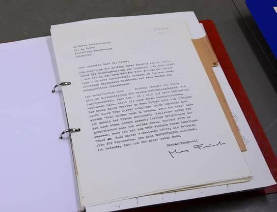 Der Brief an Alfred Wyser im Original