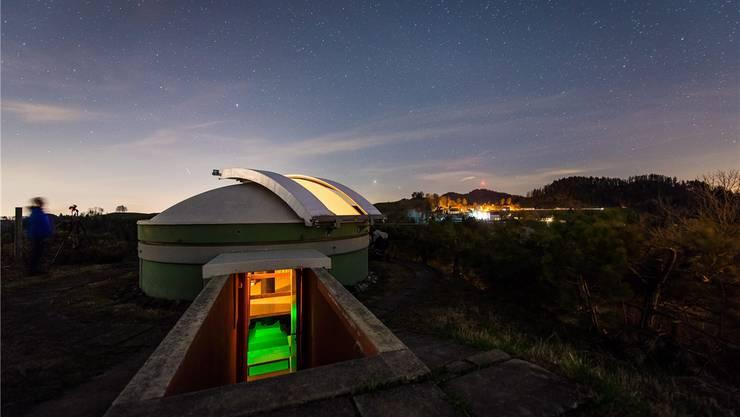 Die Gemeinde hat der Sternwarte ein neues Teleskop finanziert.