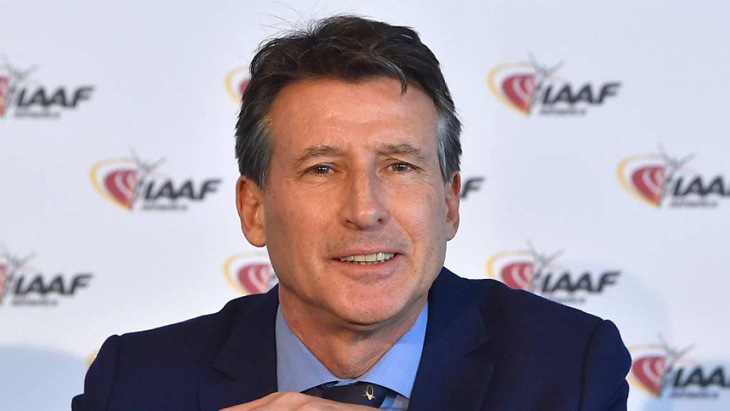 IAAF-Präsident Sebastian Coe wird am 17. Juni in Wien über den Entscheid des Councils informieren
