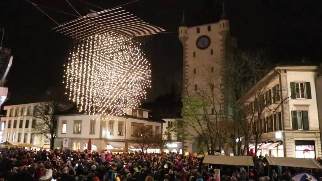 Rund 1000 Kinder wecken gemeinsam das Badener Weihnachtslicht geweckt (November 2019)
