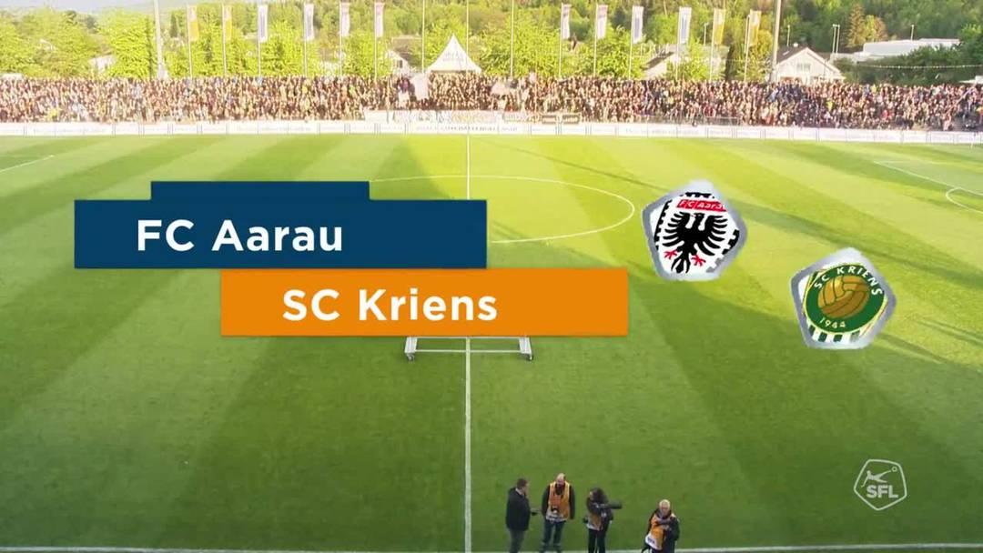 Challenge League: 2018/19, 34. Runde, FC Aarau - SC Kriens (15. Mai 2019)