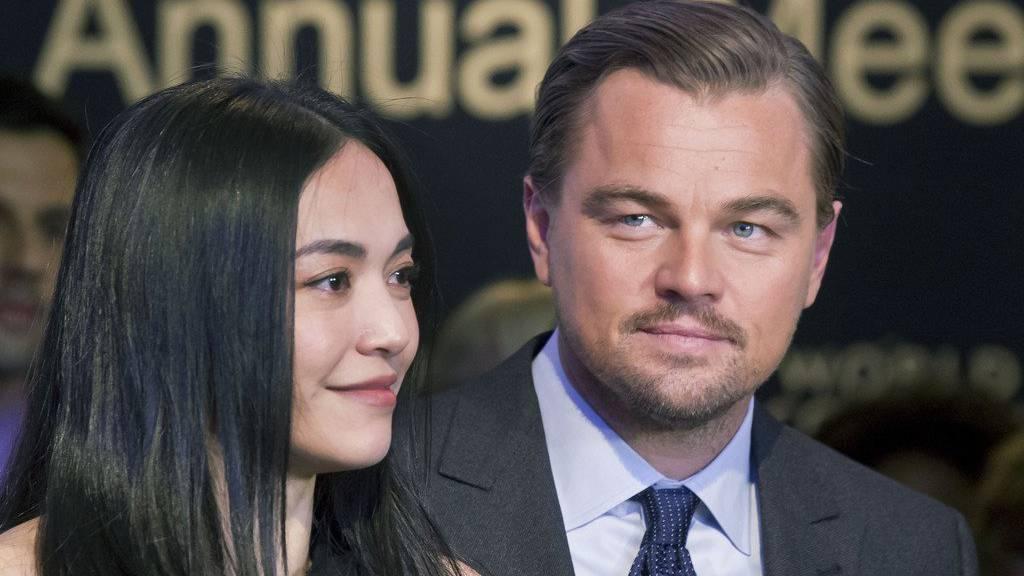 Die chinesische Schauspielerin Yao Chen mit Leonardo DiCaprio.