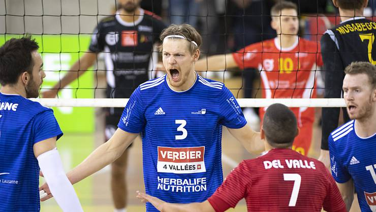 Der Meisterschaftsbetrieb im Schweizer Volleyball wird nach einem Unterbruch der NLA-Playoffs nicht wieder aufgenommen