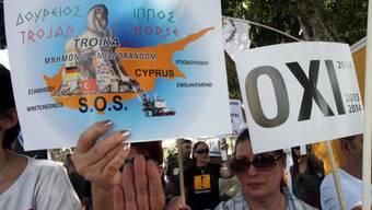 Modelfall Zypern? Demonstration in Nikosia (Archiv)