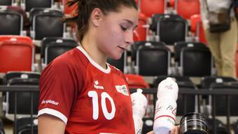 Daphne Gautschi ist trotz ihrer sechs Tore gegen Olympiasieger Russland nach der Partie nicht zufrieden